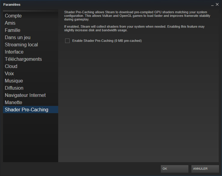 Steam améliore la performance de certains jeux avec une mise à jour