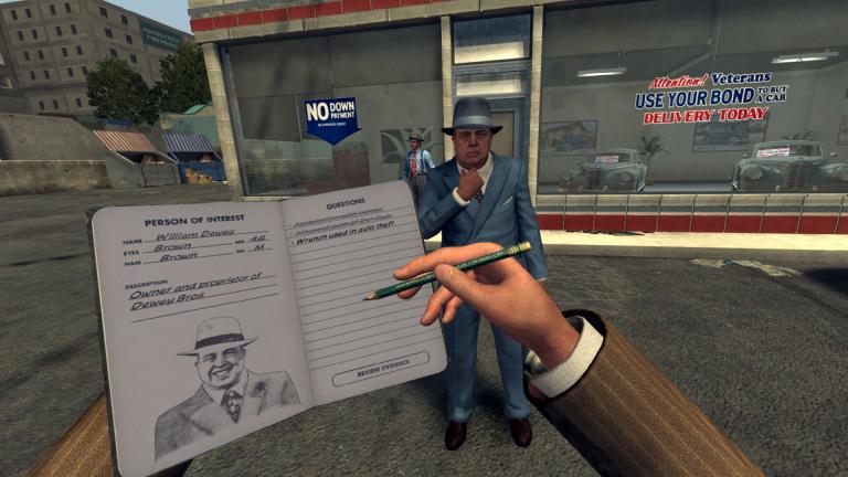 L.A. Noire : la configuration recommandée pour les enquêtes VR