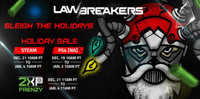 LawBreakers : Nouvelle baisse de prix et double XP pour les fêtes