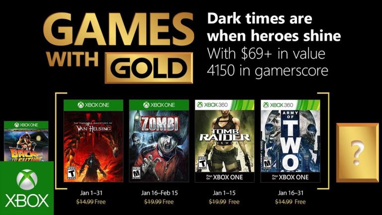 Xbox Gold : Voici les jeux gratuits du mois de janvier 2018