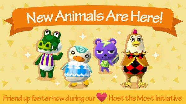 Animal Crossing : Pocket Camp accueille quatre nouveaux campeurs