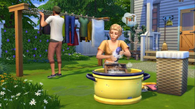 Les Sims 4 : Une nouveau kit d'objets pour faire la lessive