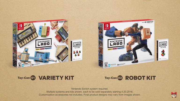 Nintendo Labo : Un jeu mêlant jeu vidéo et construction dévoilé