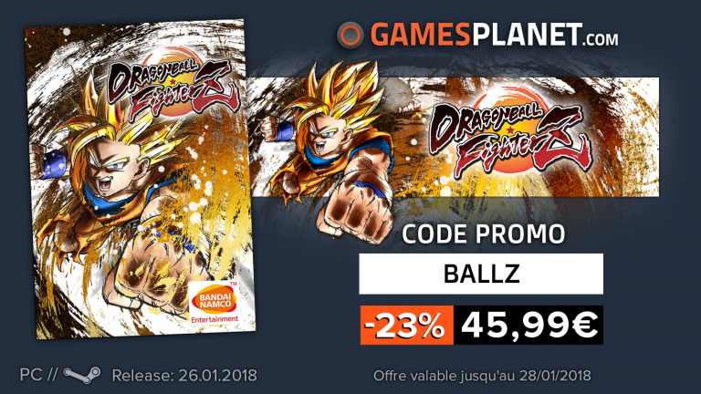 News bons plans : Dragon Ball FighterZ à 45,99 €