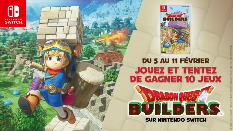 Concours Dragon Quest Builders : Gagner des jeux Switch