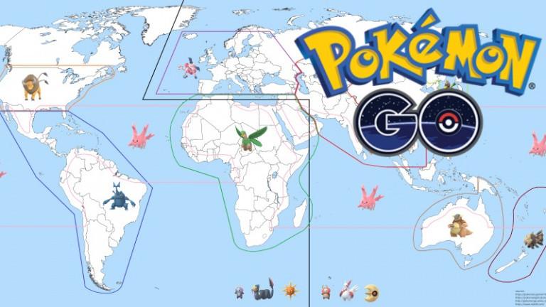 Crete Carte Geographique Monde.Pokemon Go Un Nouveau Pokemon Regional Ajoute La Carte Des 15
