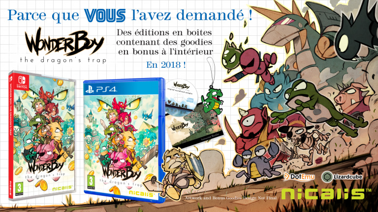 [MàJ] Wonder Boy : The Dragon's Trap - L'édition physique (PS4 / Switch) paraîtra le 20 avril