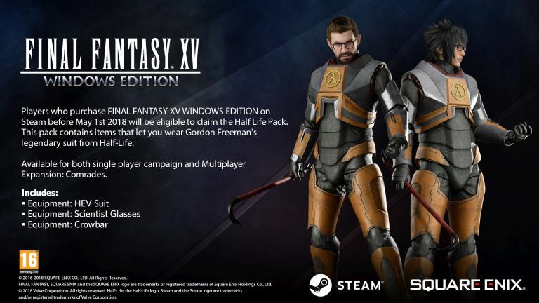 Final Fantasy XV : le costume Gordon Freeman est désormais proposé gratuitement