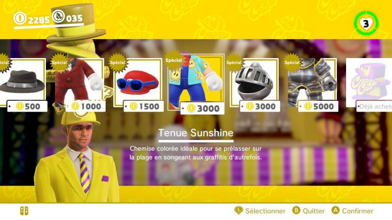 Super Mario Odyssey, mise à jour 1.2 : chasse aux ballons de Luigi, nouveaux costumes... Notre guide