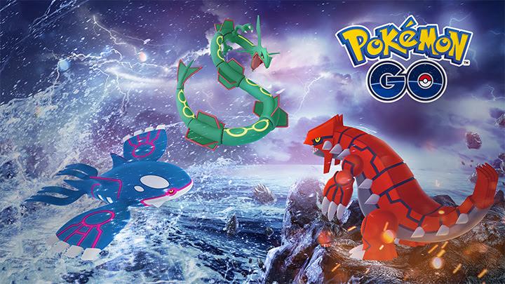 Semaine Légendaire, Groudon, Kyogre et Rayquaza dispo en raids — Pokémon GO