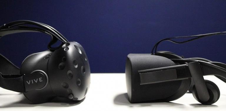 L'Oculus Rift devant le HTC Vive sur Steam