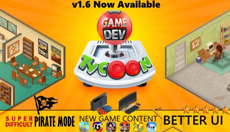 Game Dev Tycoon : Une nouvelle mise à jour et du nouveau contenu