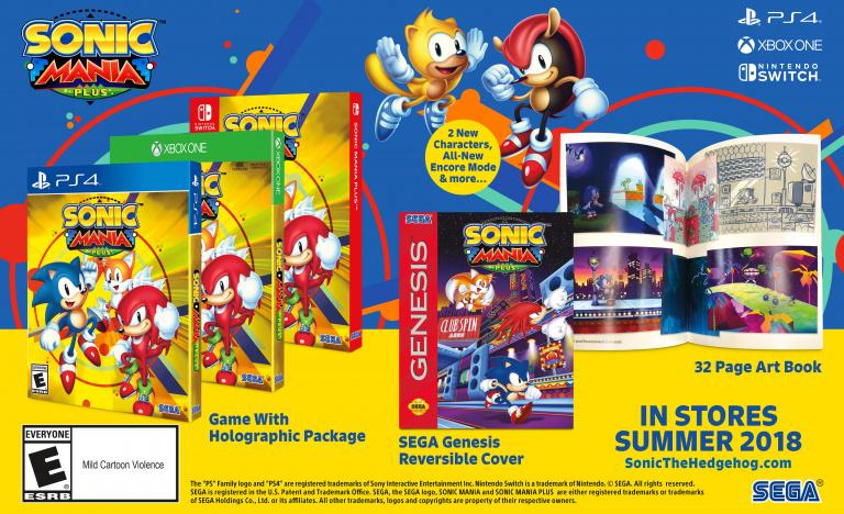 Sonic Mania Plus s'annonce pour cet été sur PC, PS4, Xbox One et Switch