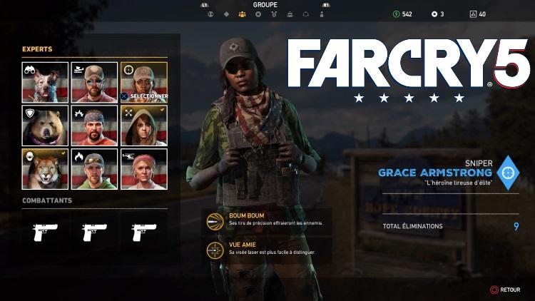 Far Cry 5, Experts : emplacements, recrutement, compétences... Tout ce qu'il faut savoir, notre guide