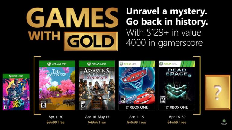 Xbox Games with Gold : Les jeux du mois d'avril dévoilés