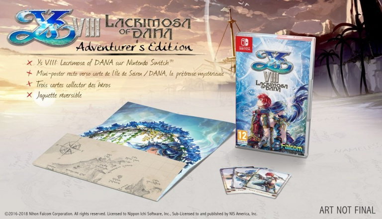 Ys VIII : Lacrimosa of DANA présente son Adventurer's Edition sur Switch
