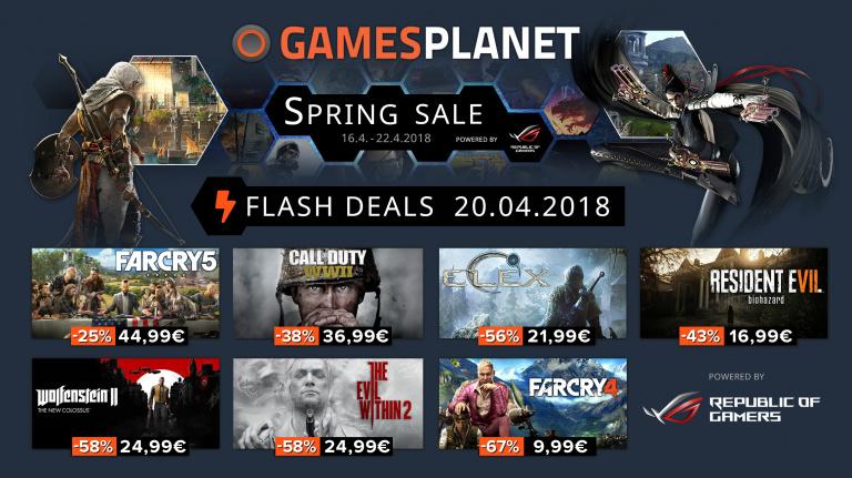 Spring Sale : de nouveaux jeux soldés chez Gamesplanet