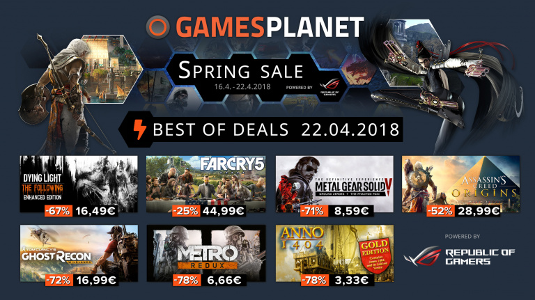 Spring Sale : Le bouquet final des soldes de Gamesplanet