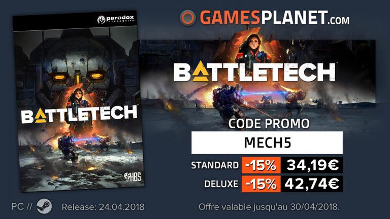 Le jeu de stratégie Battletech en promotion chez Gamesplanet