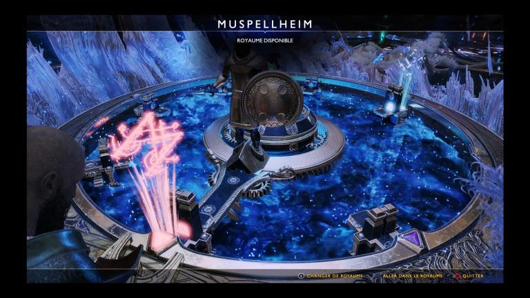 Débloquer Muspellheim, le royaume du feu : emplacements Fragments de code