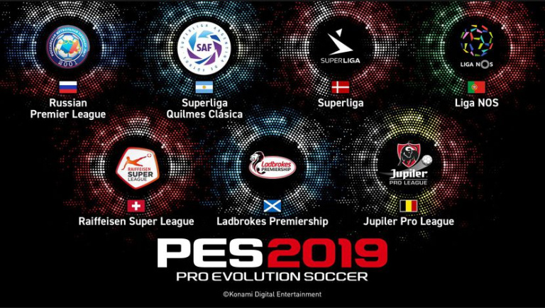 PES 2019 aura neuf championnnats sous licence inédits