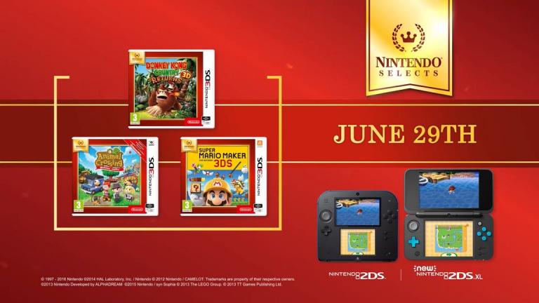 Nintendo Selects : Animal Crossing, Donkey Kong Country et Super Mario Maker ajoutés à la collection
