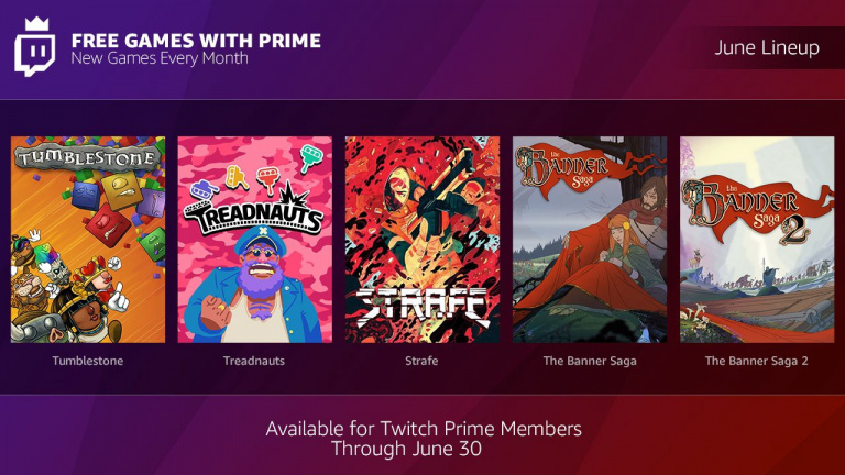 Twitch Prime : The Banner Saga 1 et 2, Strafe et deux autres jeux offerts en juin