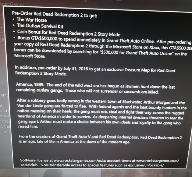 Red Dead Redemption 2 : les bonus de précommande dévoilés