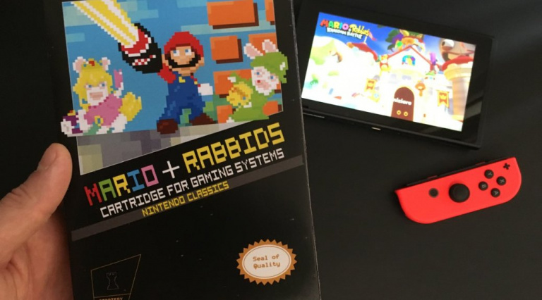 Mario + Lapins Crétins Kingdom Battle : ce fan crée une boîte NES du jeu