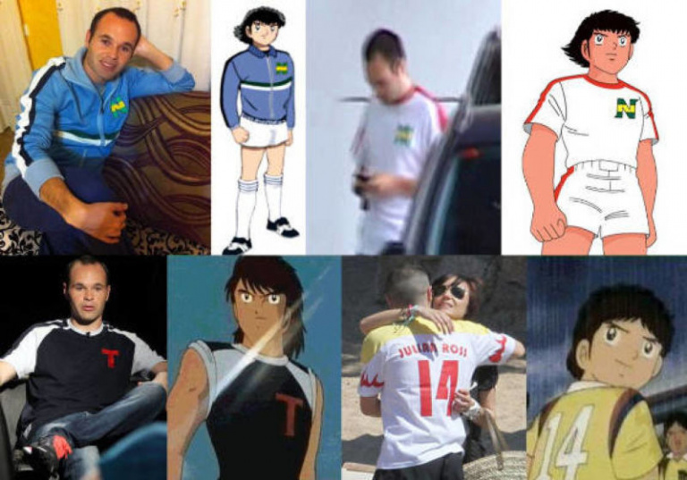 Captain Tsubasa : Andrés Iniesta est un véritable fan du manga Olive & Tom.