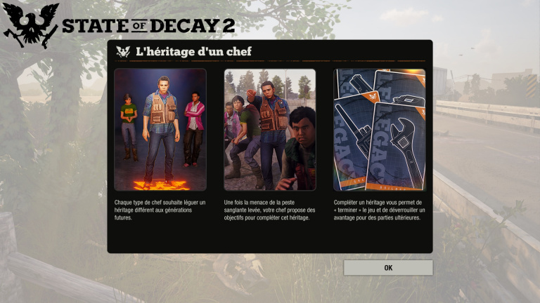 State of Decay 2 : guide quêtes d'héritage
