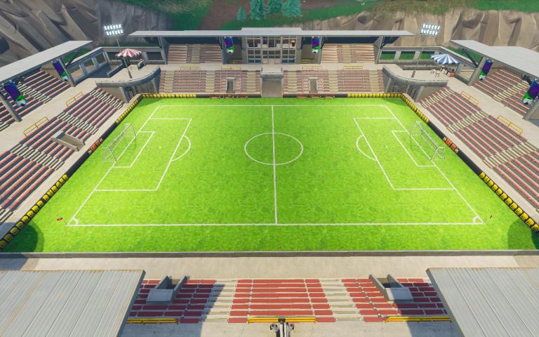 emplacement des terrains de foot - fortnite stade de foot