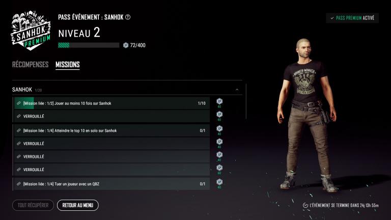 Liste des missions de l'Event Pass