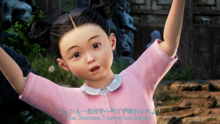 Shenmue III : les questionnaires pour préparer la sortie du jeu sont en chemin