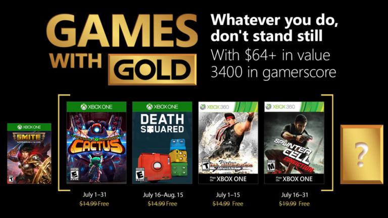 Xbox Live Gold : les jeux gratuits du mois de juillet 2018