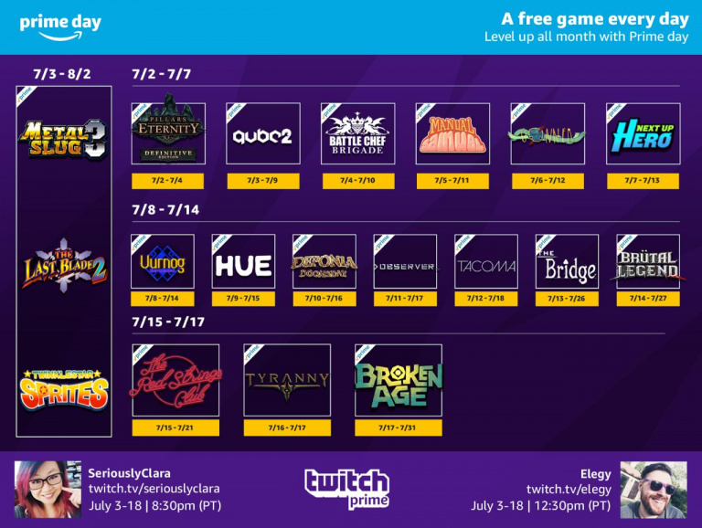 [MàJ] Twitch Prime : Tyranny, The Red Strings Club et Observer sont offerts en ce moment