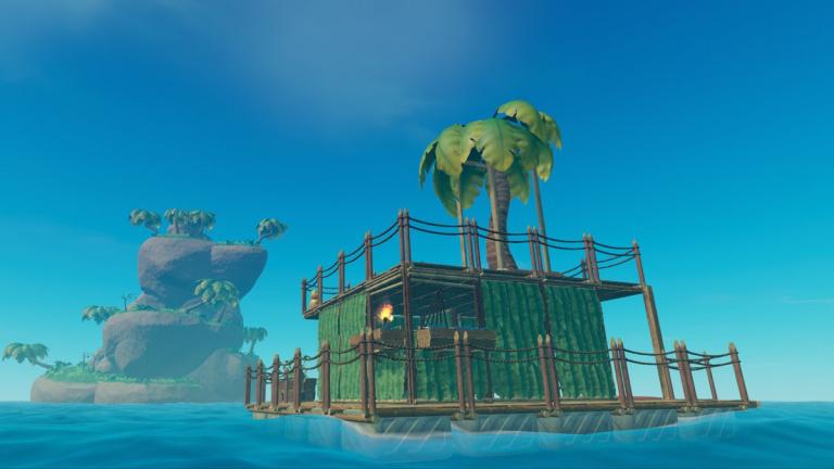 Le jeu de survie Raft développe sa faune et sa flore