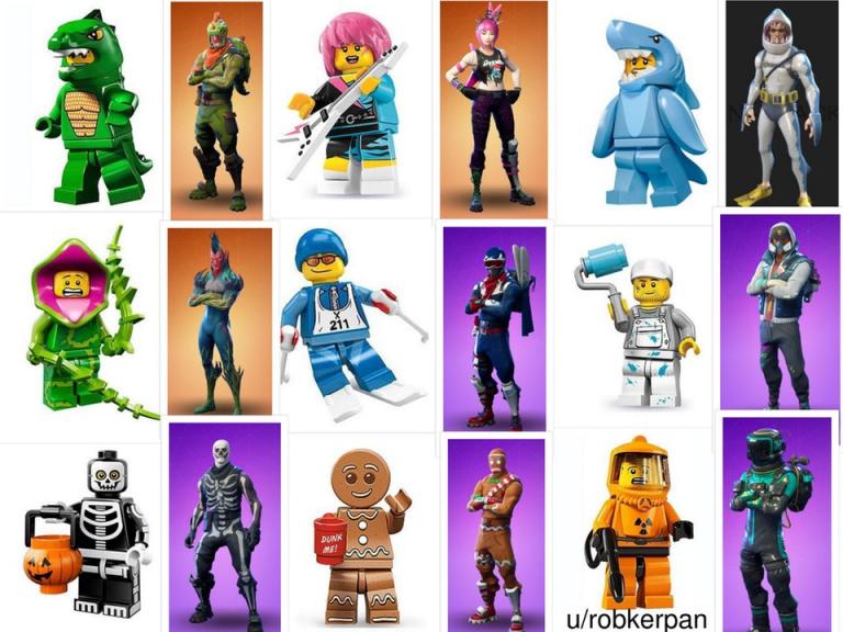 Des tenues de Fortnite inspirées par LEGO ?