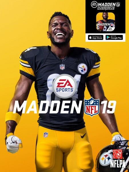 Madden NFL 19 : Antonio Brown a été choisi pour figurer sur la jaquette