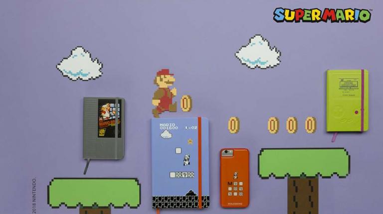 Super Mario s'offre une collection de carnets chez Moleskine