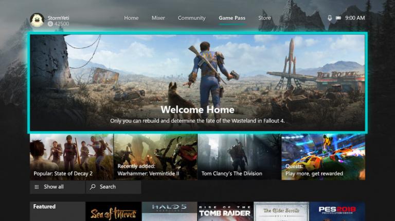 Xbox Game Pass : un menu dédié ajouté sur Xbox One