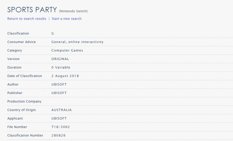 Sports Party : Une suite sur Switch repérée en Australie
