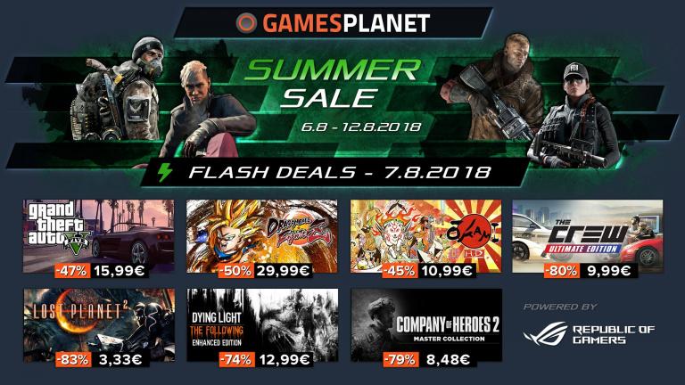 Les soldes d'été continuent chez Gamesplanet !