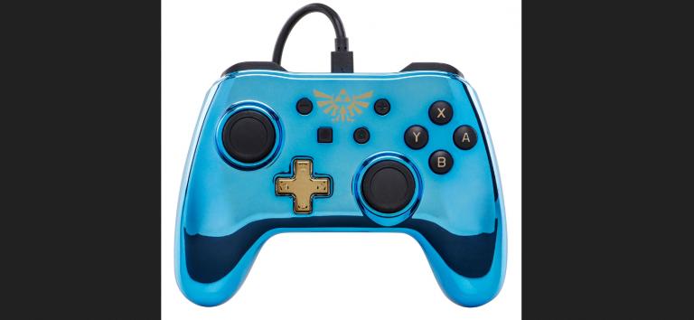 Nintendo Switch : des manettes chromées Zelda, Mario et Metroid par PowerA