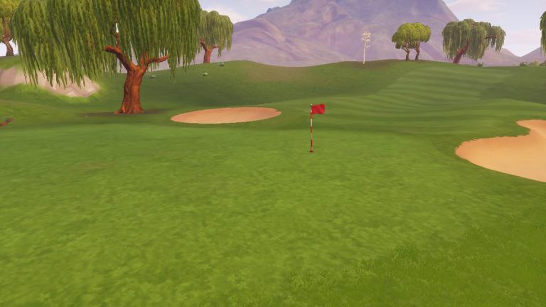 """Emplacement des """"tee"""" (trous) de golf"""