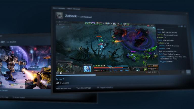 Valve met à jour la plateforme de diffusion Steam Broadcasting