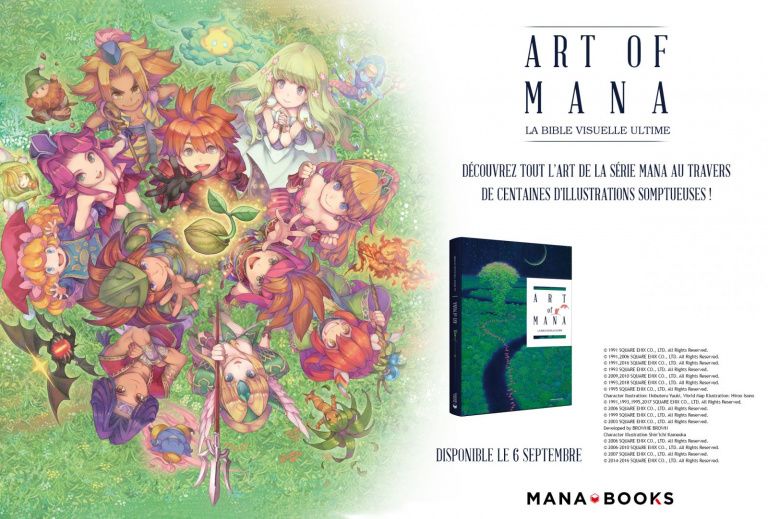Mana Books fête les 25 ans de la saga Mana avec un artbook et un manga