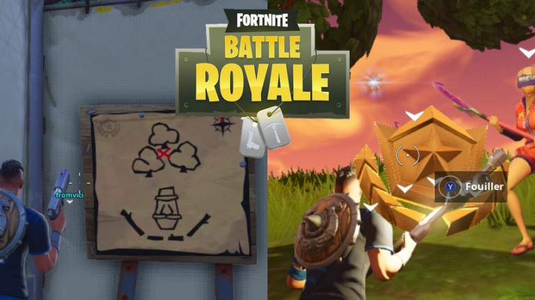 fortnite guide defis semaine 7 saison 5 carte au tresor dusty divot lieux - coffre fortnite