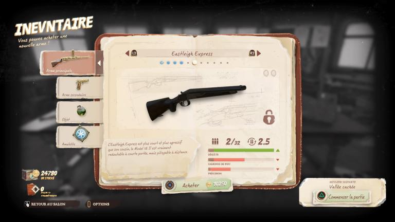 Acheter et améliorer les armes