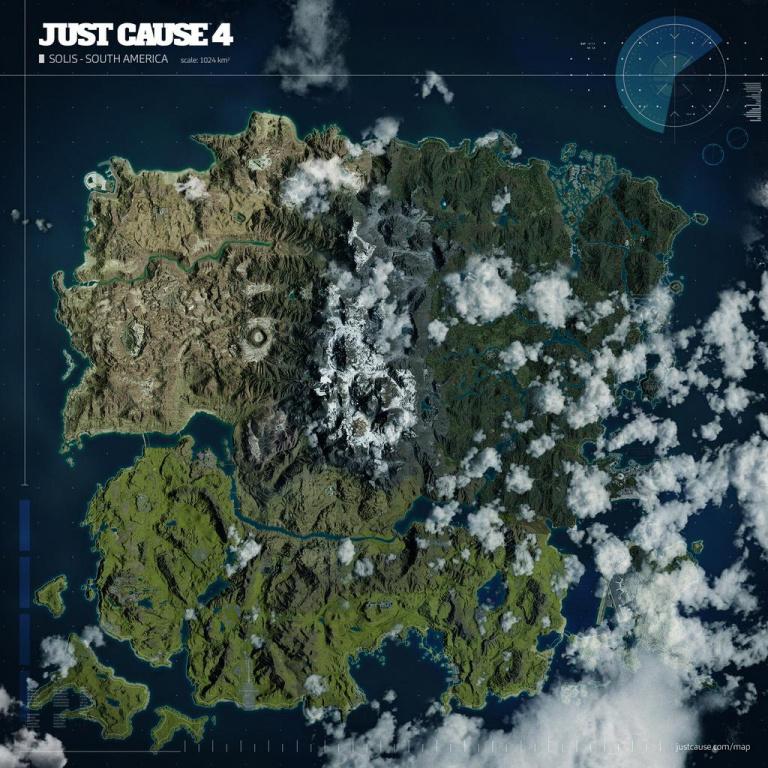 La map de Just Cause 4 dévoilée par Avalanche Studios